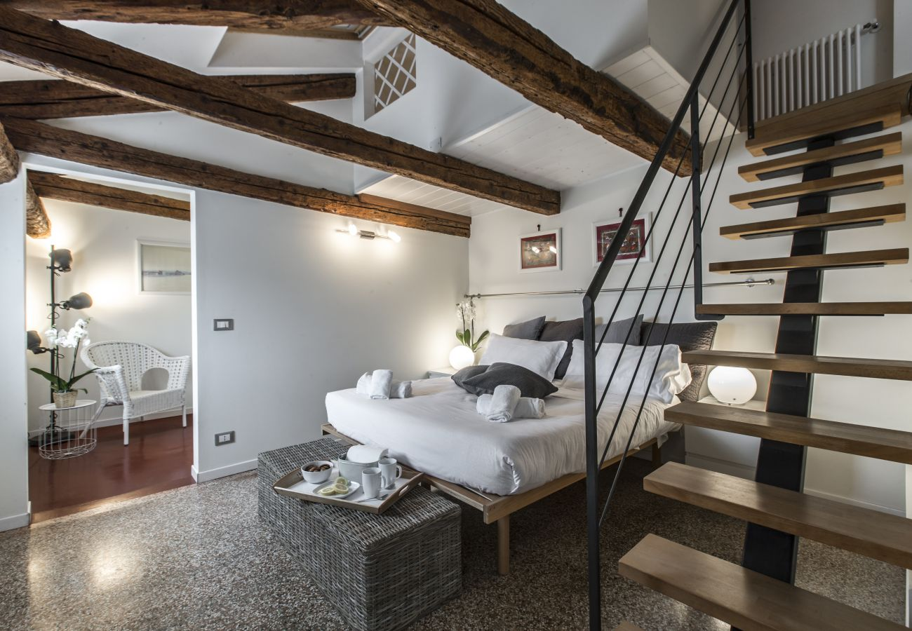 Spacious bedroom for two people