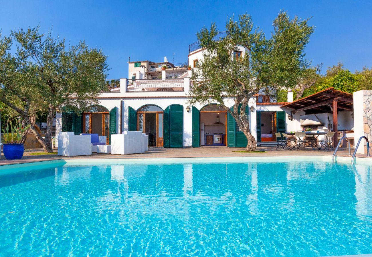 pool, villa chez piè, vacation villa massa lubrense, italy