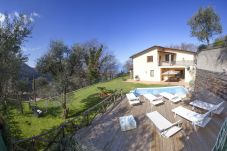villa gradoni from the sunbeds furnished solarium, vacation villa sorrento, italy