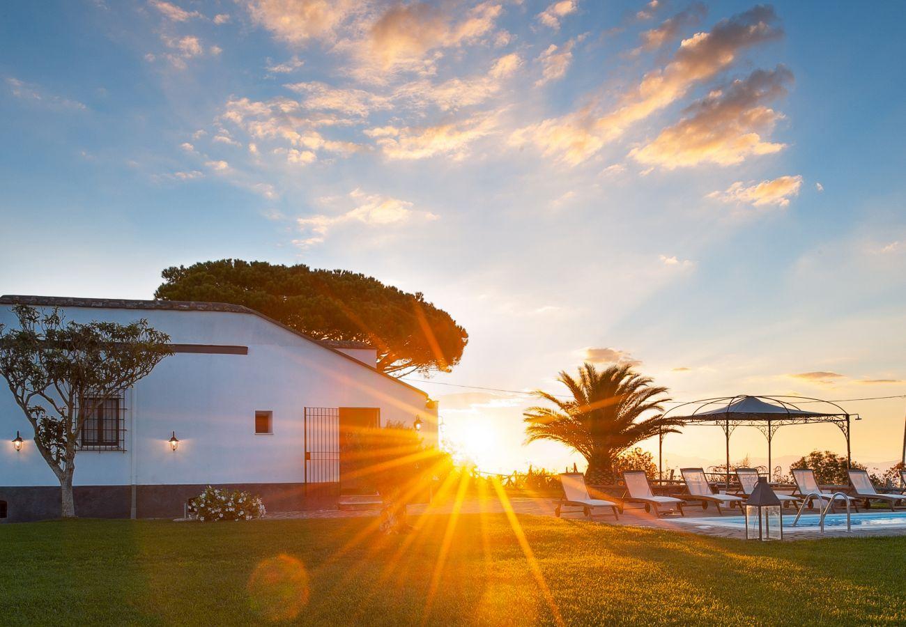 stunning sunset casa del capitano, vacation villa massa lubrense, italy