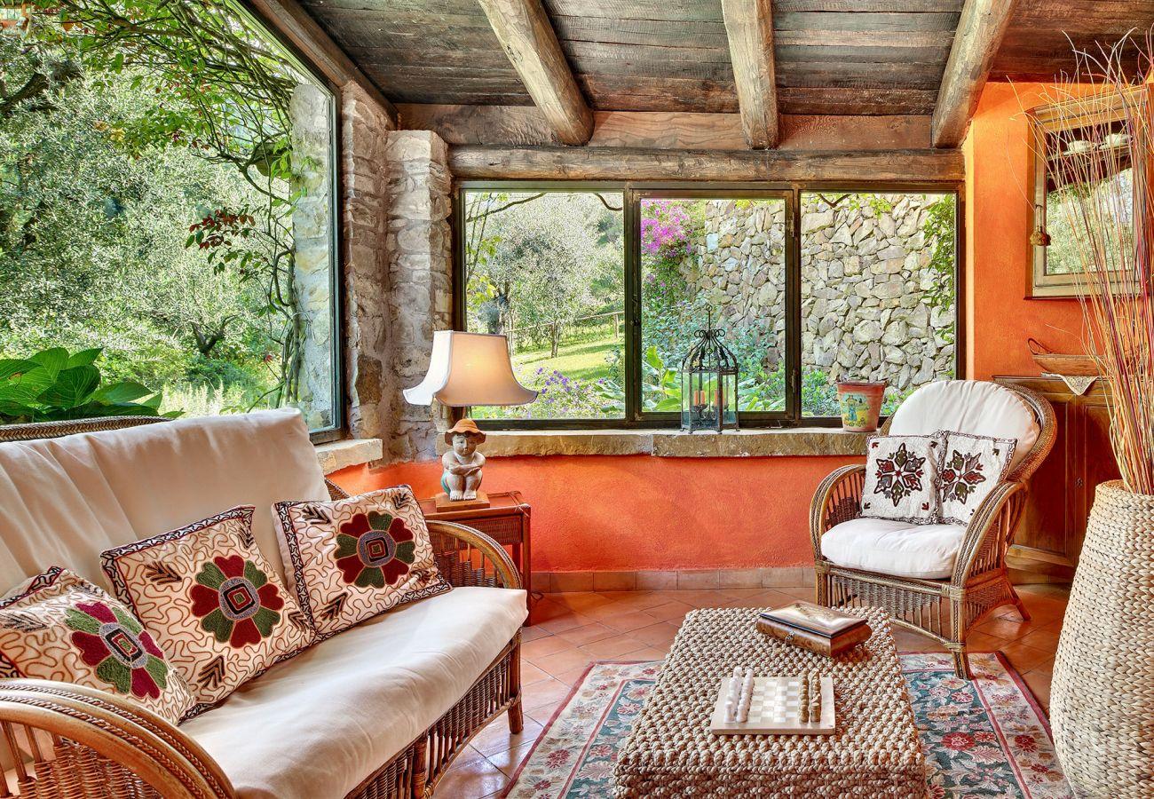 bright living room corallo apartment, casale la torre, holiday apartments near sorrento, massa lubrense, italy