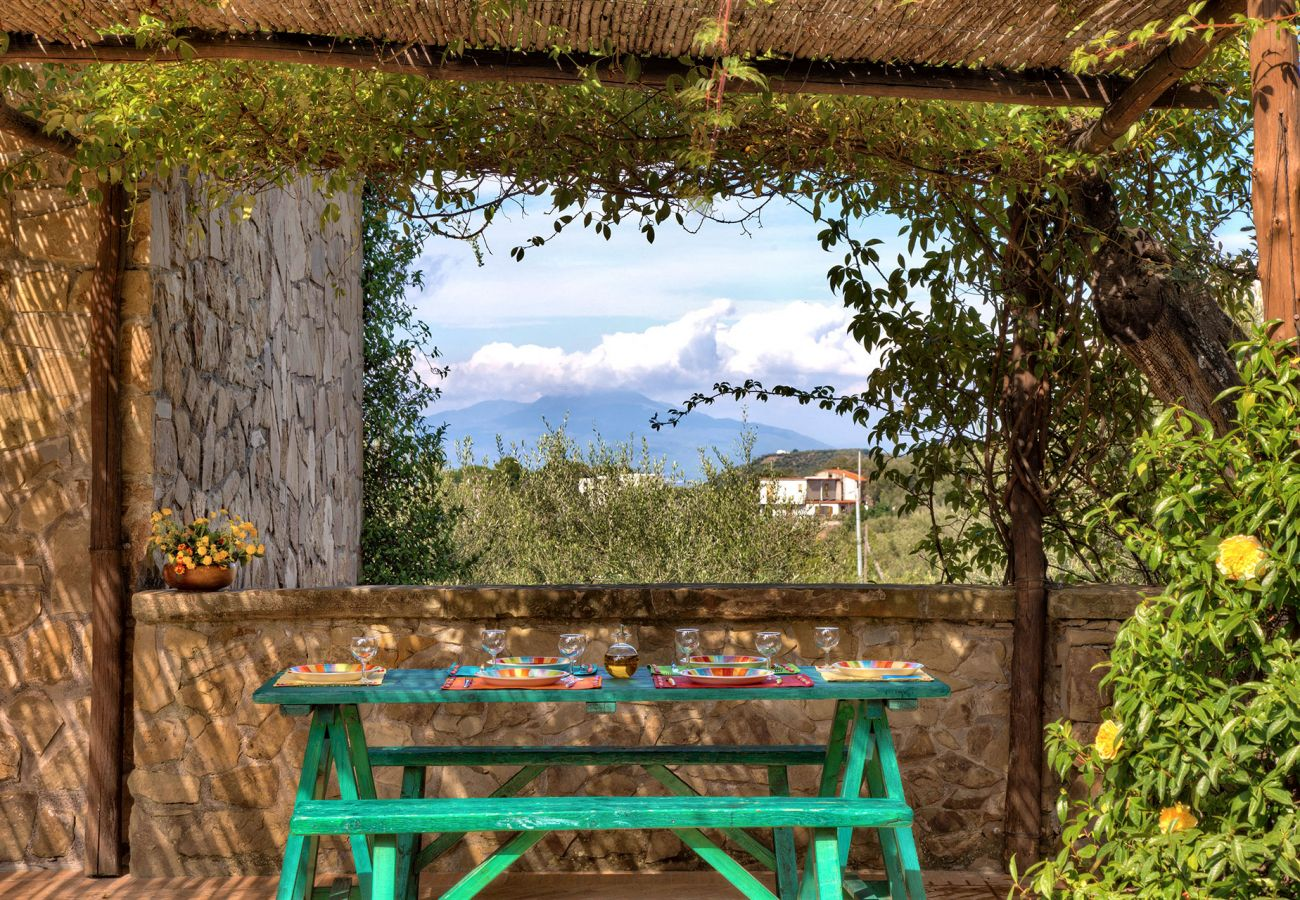 outer patio primula, casale la torre, holiday apartments near sorrento, massa lubrense, italy