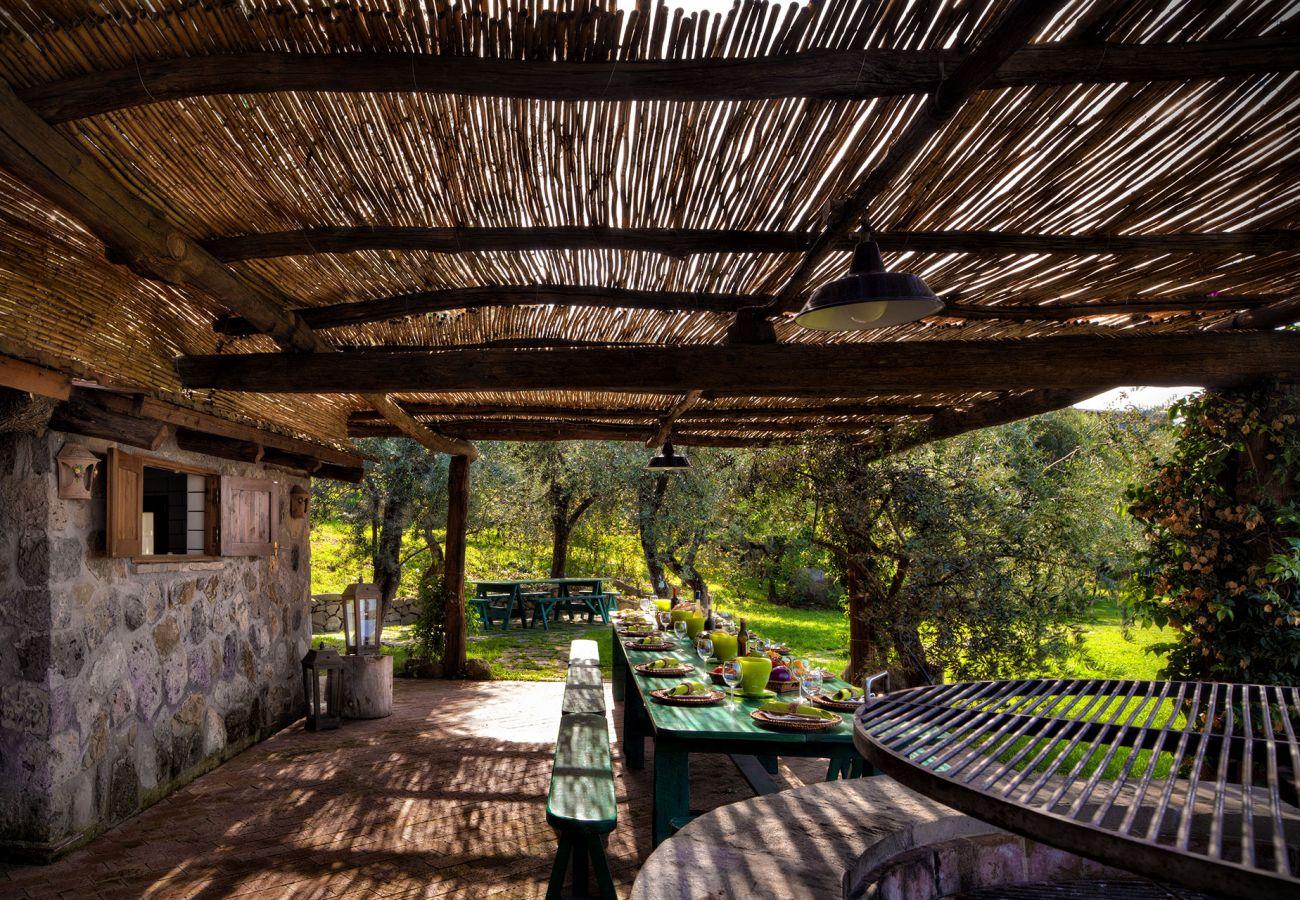 picnic area, casale la torre, holiday apartments near sorrento, massa lubrense, italy