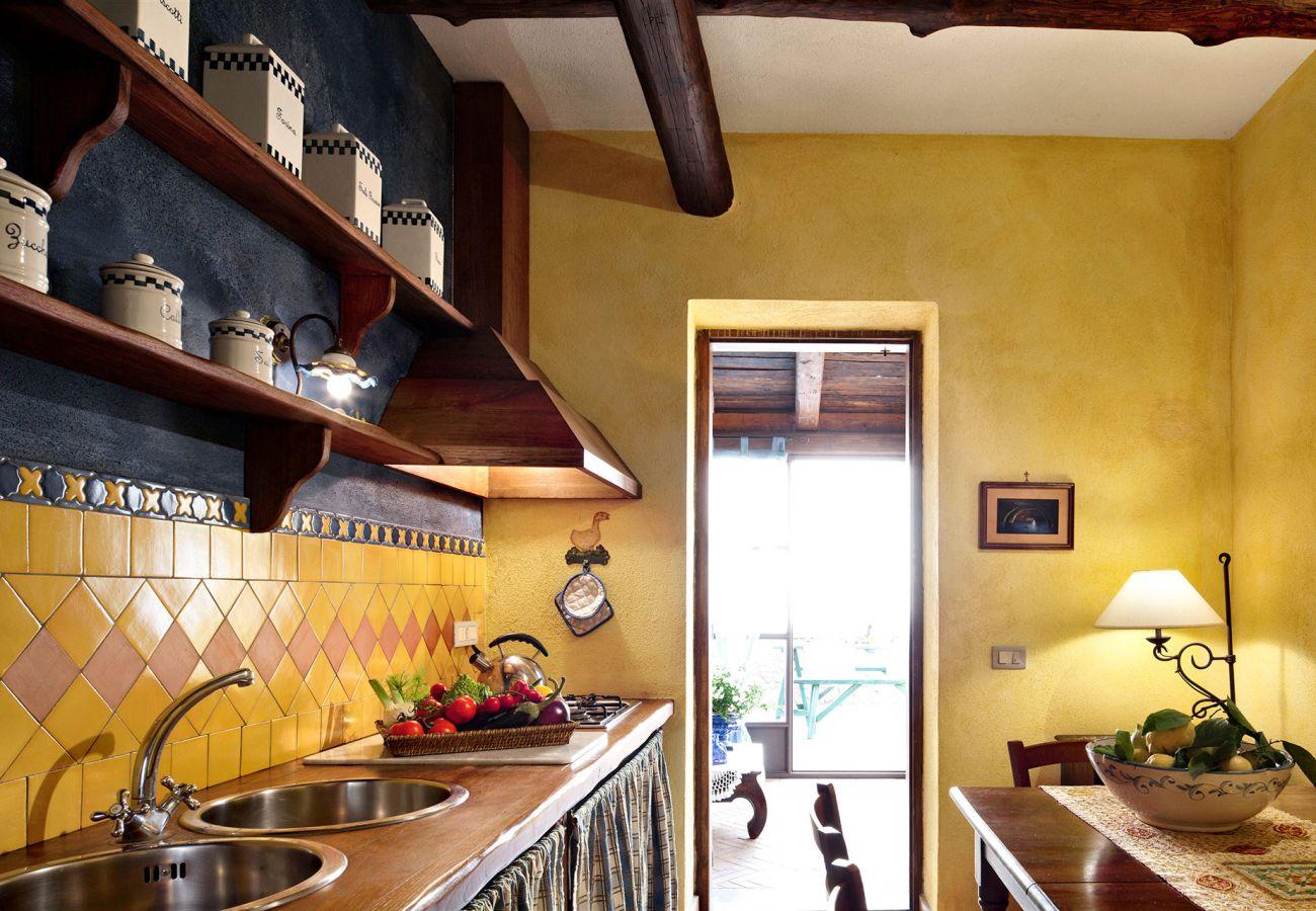 kitchen primula apartment, casale la torre, massa lubrense, italy