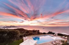 stunning sunset and panoramic pool, casale la torre, holiday apartments near sorrento, massa lubrense, italy