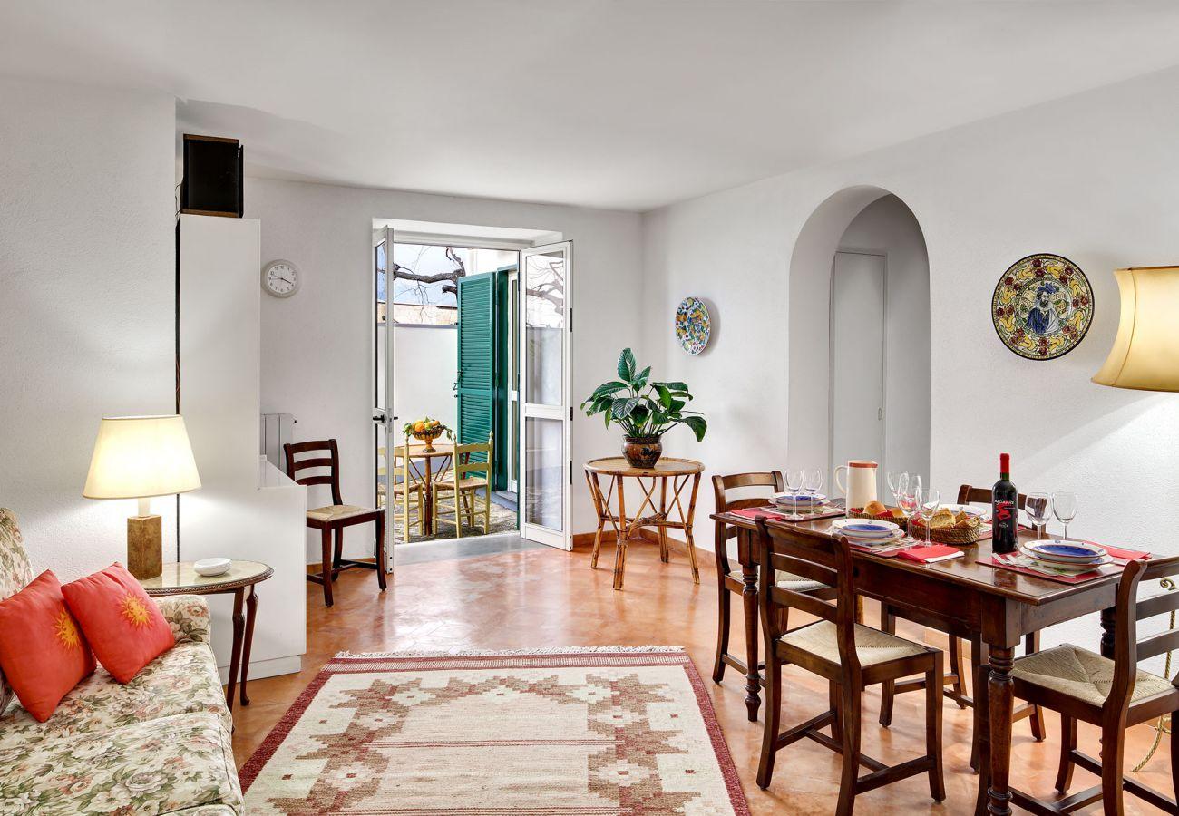 living room with patio access, villa il gioiello, sorrento, italy