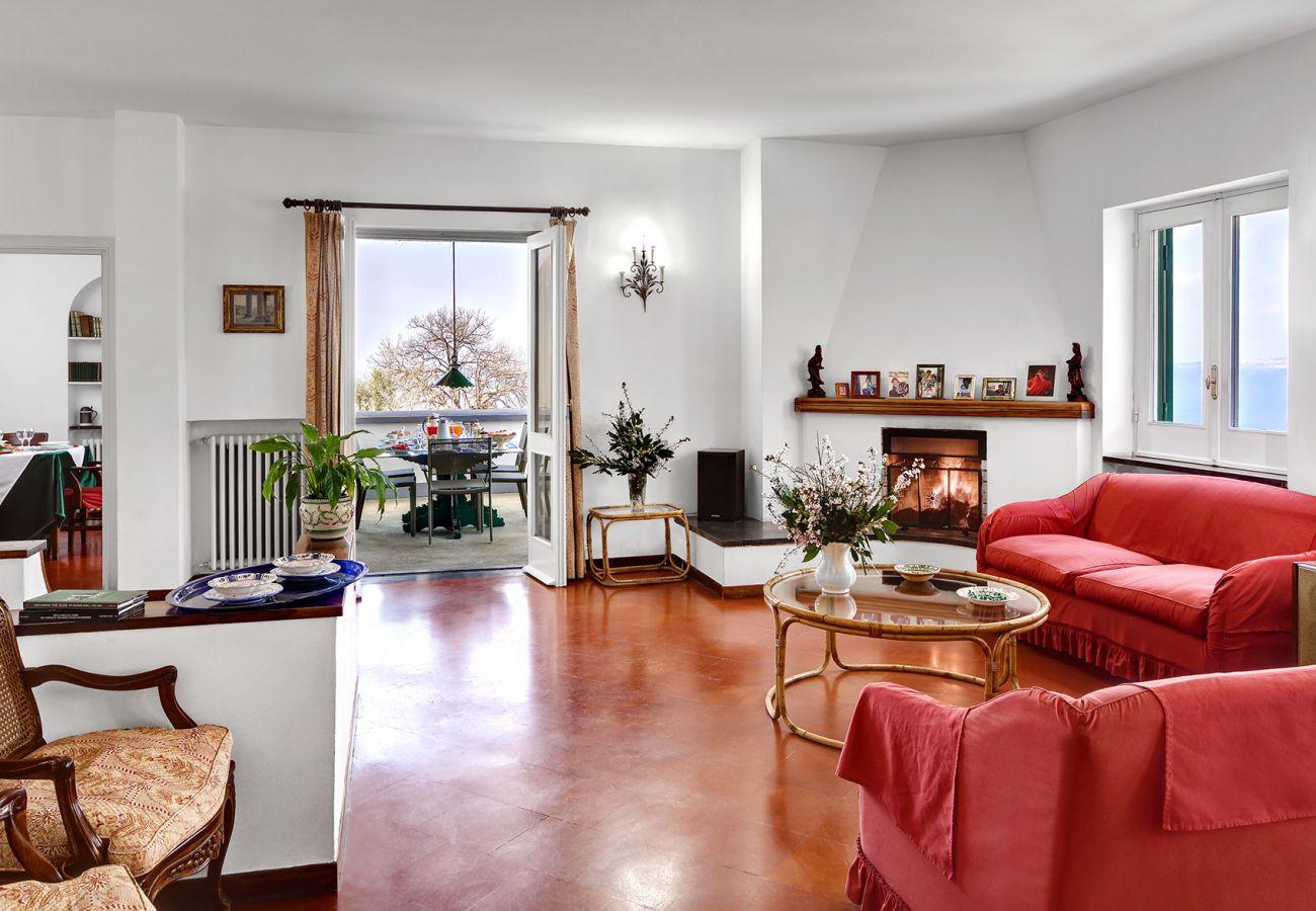 wide living room with sofas, villa il gioiello, sorrento, italy