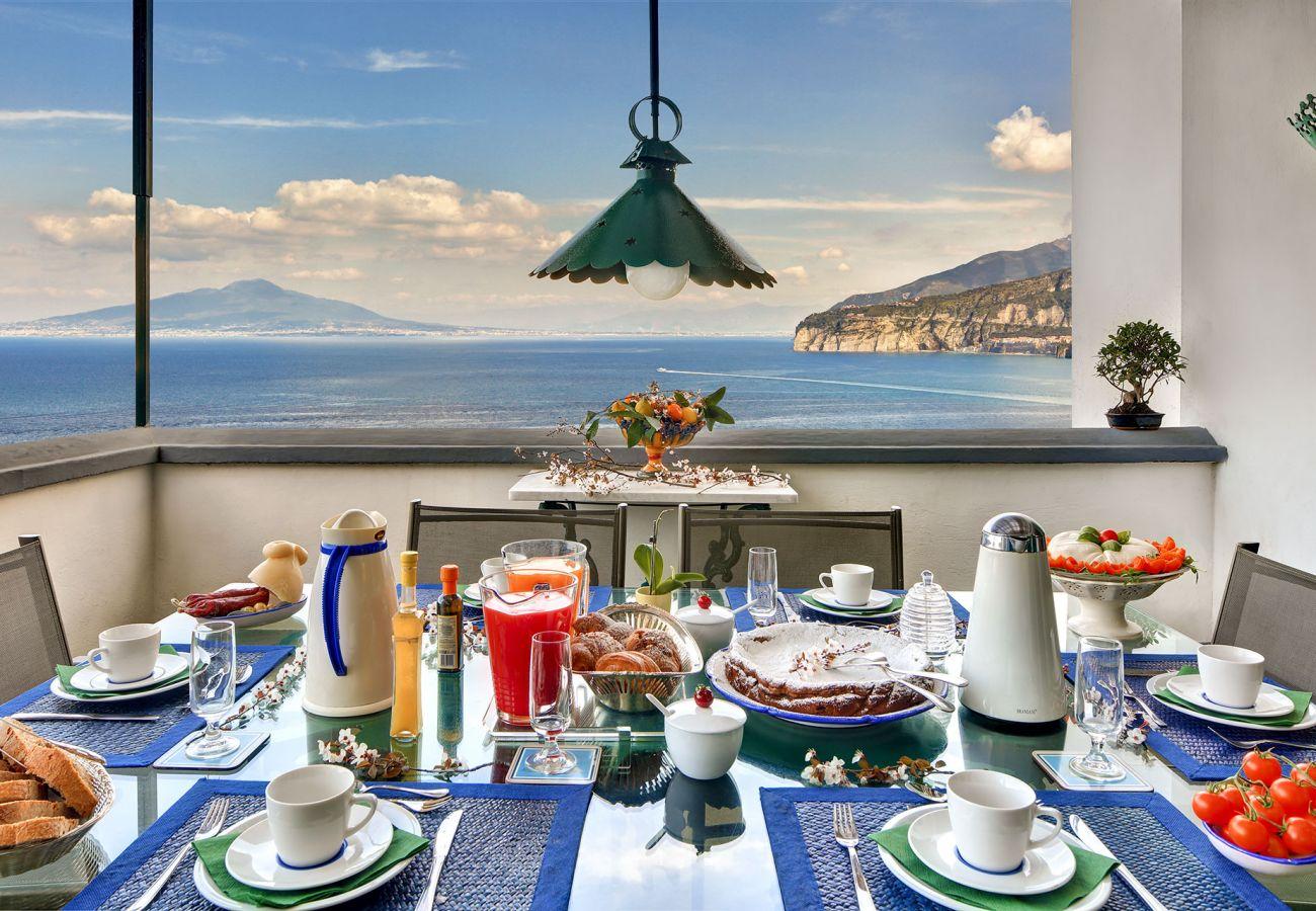 panoramic seaview terrace, villa il gioiello, sorrento, italy