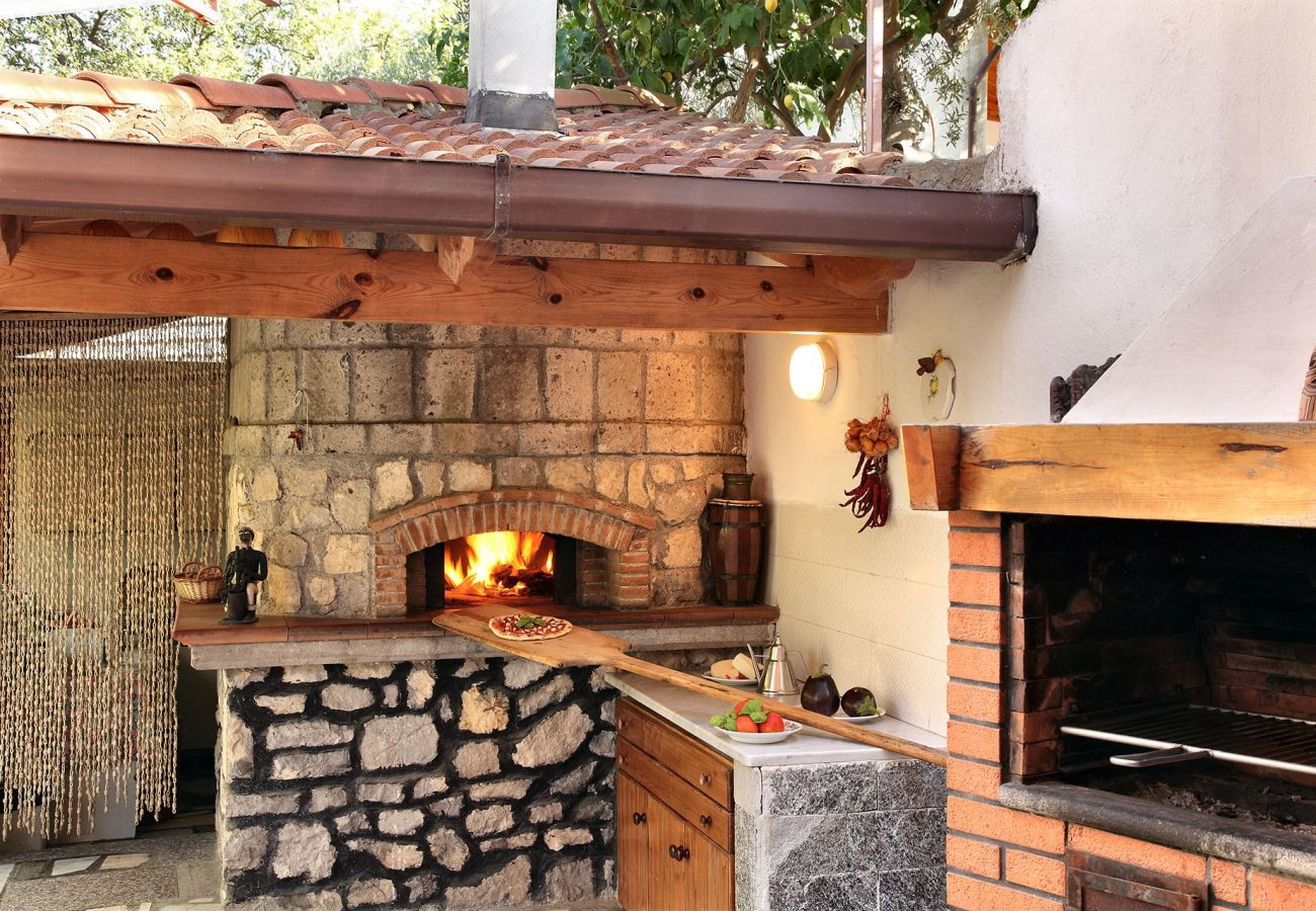 bbq and wood oven, vacation villa mamma mia, nerano, massa lubrense, italy