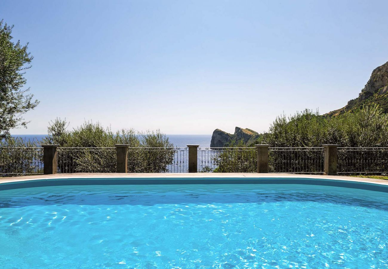 swimming pool with tre pizzi views, massa lubrense, villa mamma mia