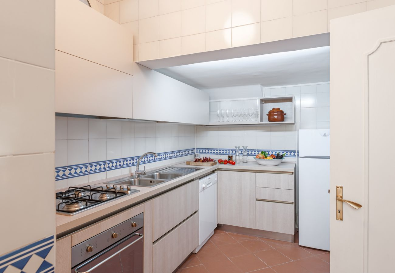 fully equipped kitchen, villa alfonsina, massa lubrense, italy