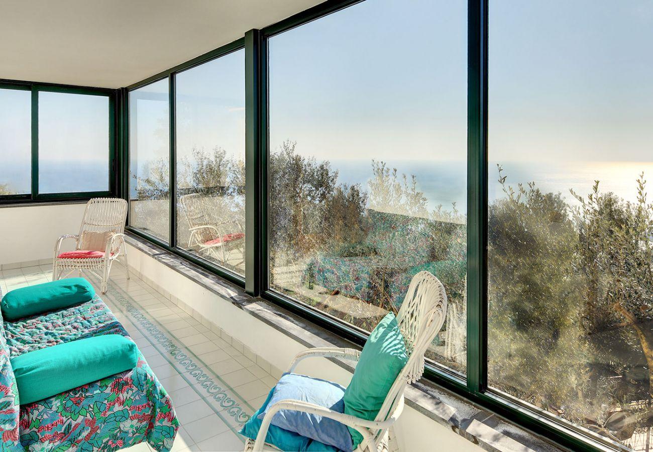veranda sea view, villa alfonsina, massa lubrense, italy