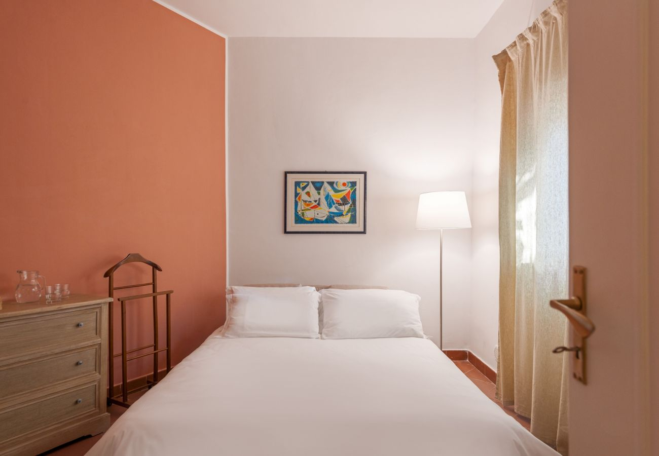 double bedroom with soft light, villa alfonsina, massa lubrense, italy