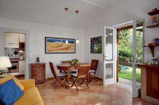 living and dining room, vacation villa due golfi, massa lubrense, italy