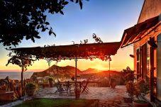 stunning sunset view, vacation villa due golfi, massa lubrense, italy
