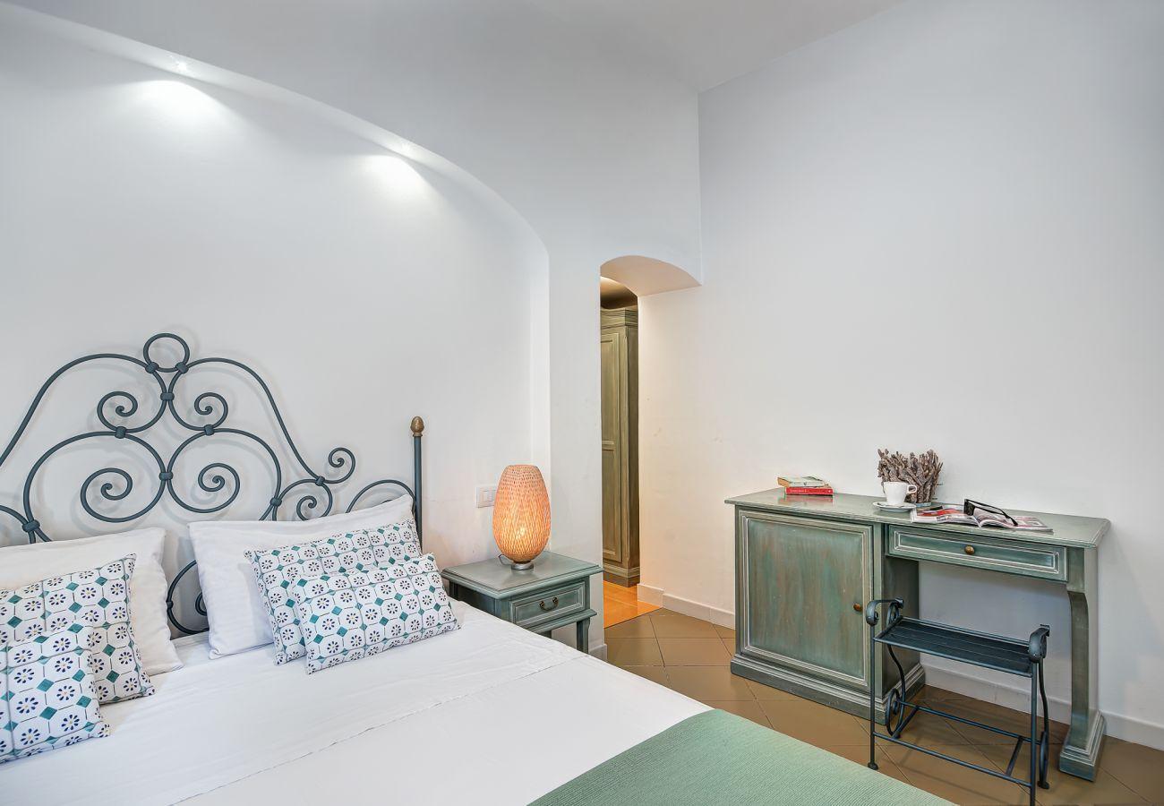 double bed, vacation villa marinella, nerano, massa lubrense, italy