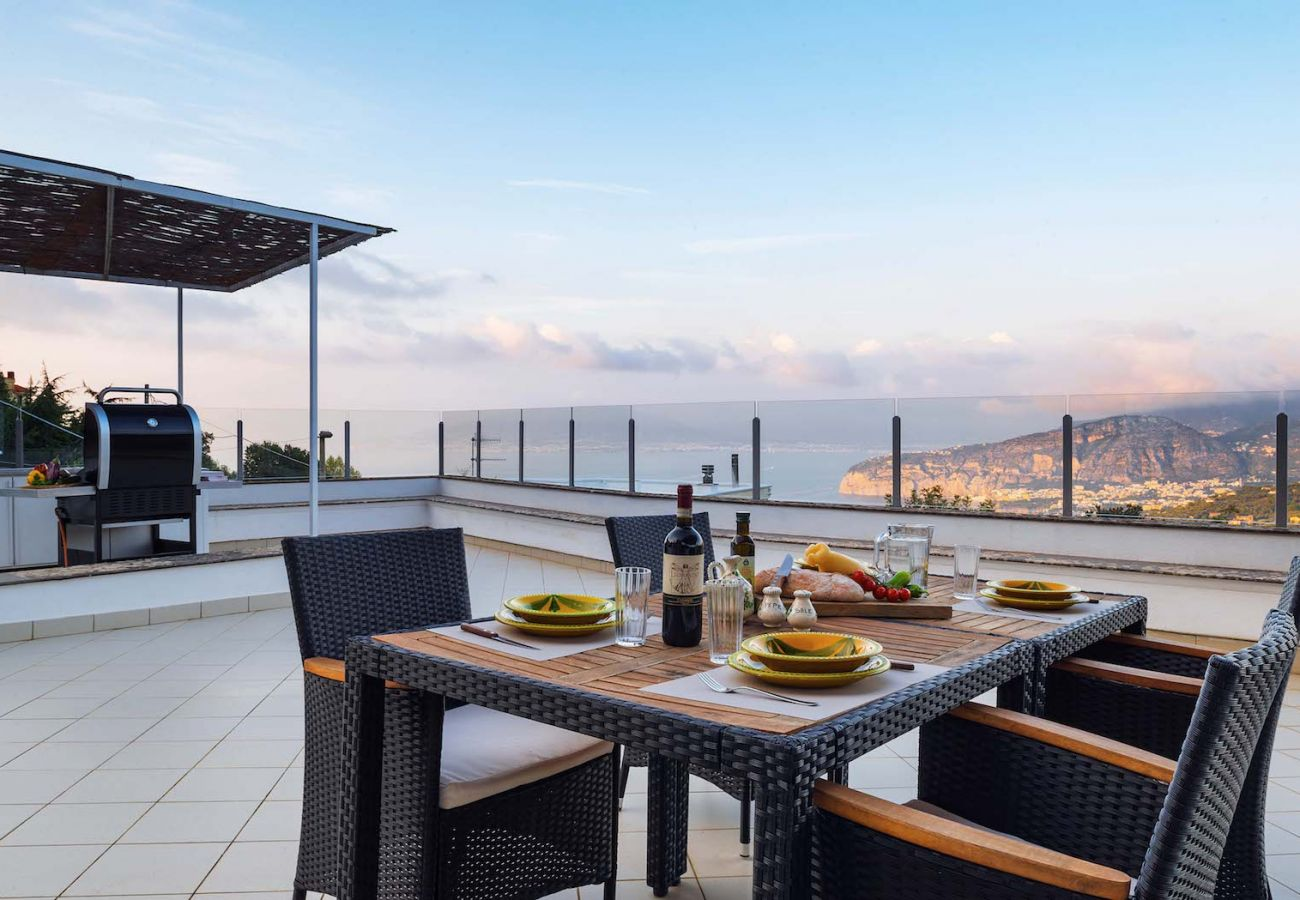 panoramic terrace with view overlooking sorrento coast, villa milena