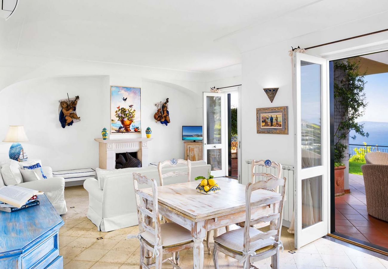 living area with terrace and panoramic sea views, villa nana
