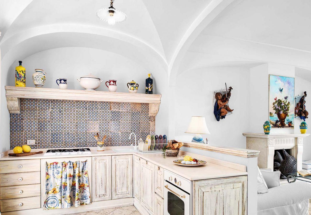 classic kitchen holiday rental st agnello, italy, villa nana