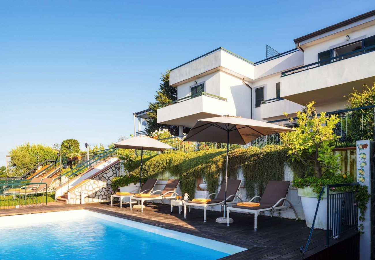 pool of private vacation villa in st agnello, italy, villa nana