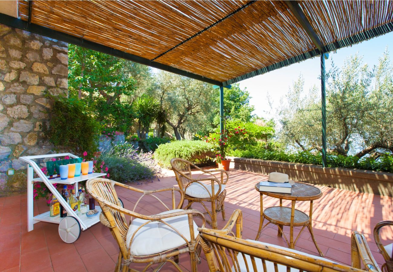 outer patio with bbq, holiday villa sterlizia, massa lubrense, italy