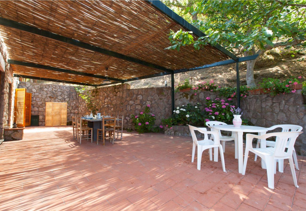 furnished outer patio, holiday villa sterlizia, massa lubrense, italy