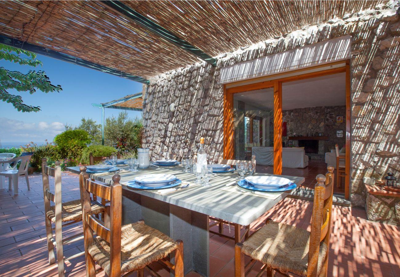 terrace in the shade, holiday villa sterlizia, massa lubrense, italy