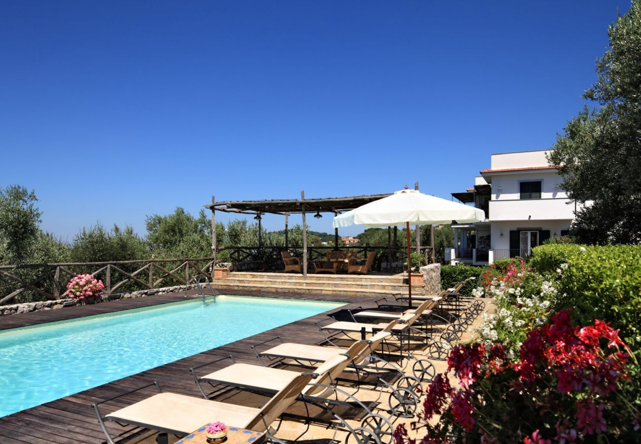 swimming pool, solarium and flowers, holiday apartment turandot, residence le capannelle, italy