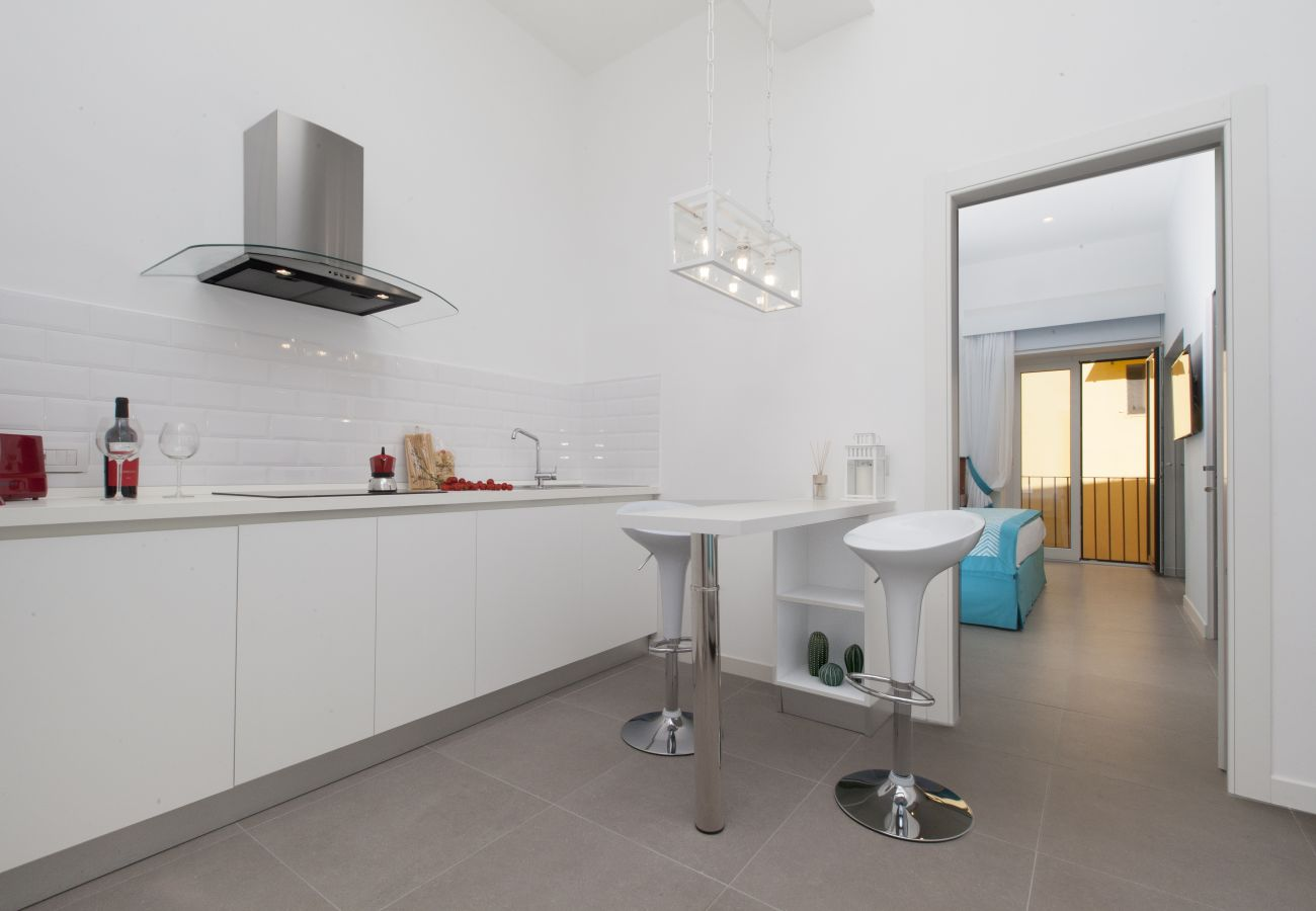 modern kitchen, holiday apartment blue suite, sorrento, italy