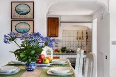 dining room and kitchen corner, italian style, holiday home