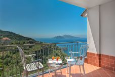 panoramic terrace overlooking capri, sea and coast line, holiday home amelia