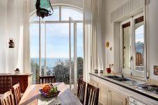 bright kitchenette with sea view balcony, marina del cantone home