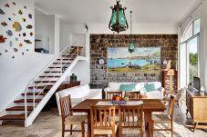 bright modern living area, vacation villa massa lubrense, italy