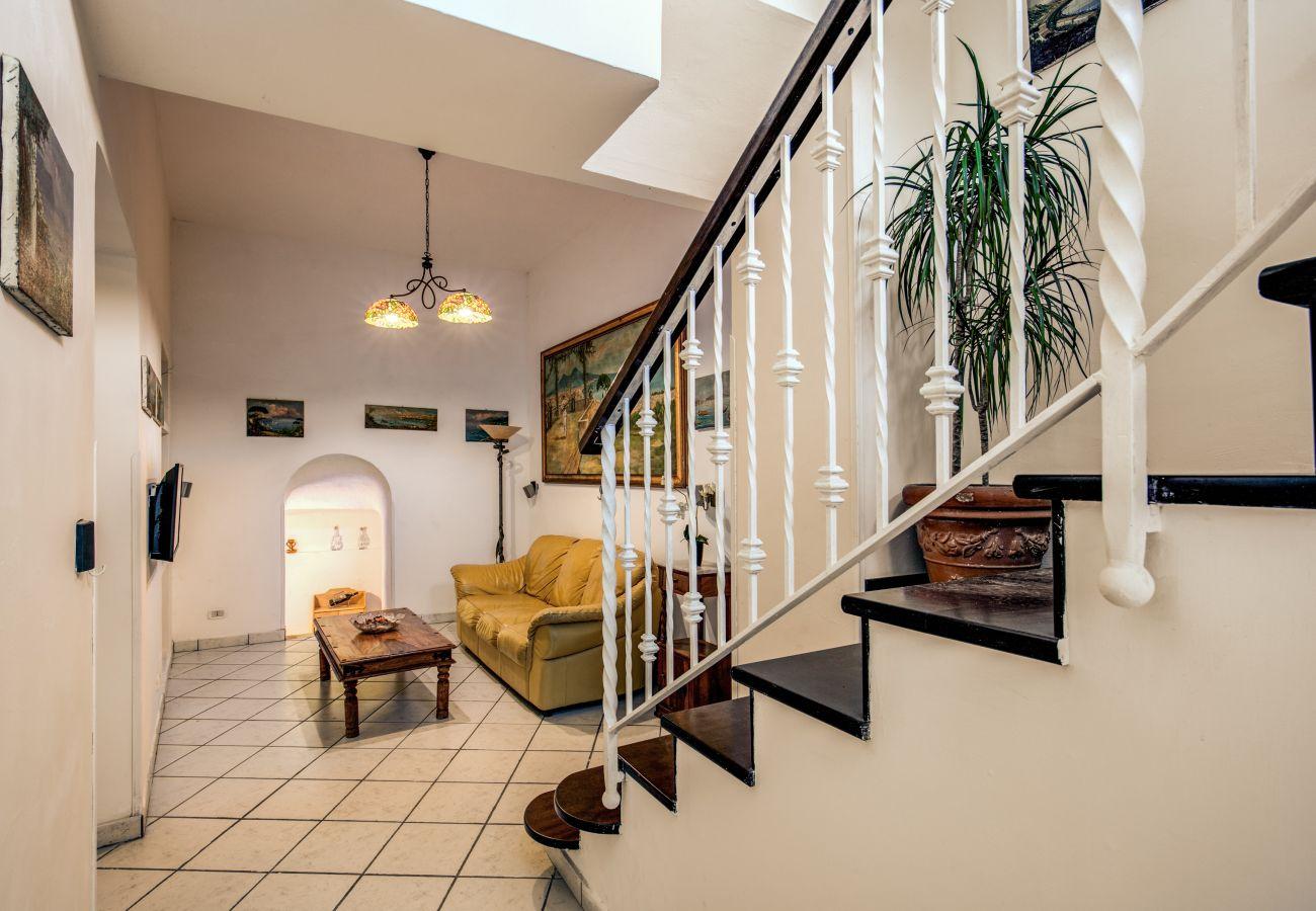 first of two floors, villa rental massa lubrense, campania, italy