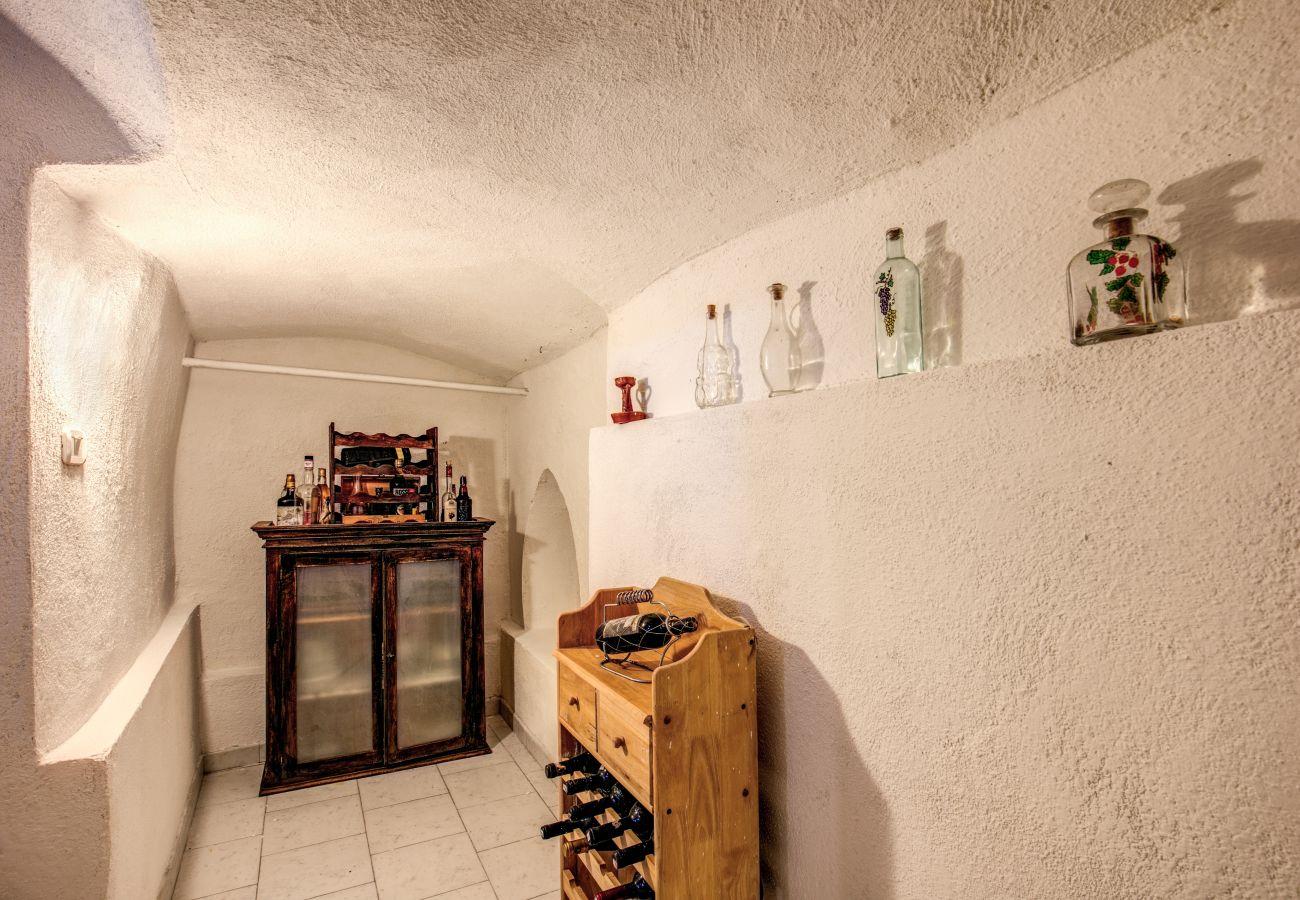 rustic room of a rental villa in massa lubresne, campania, italy
