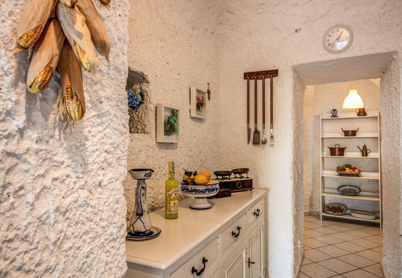 rustic room of a villa rental in torca, massa lubrense