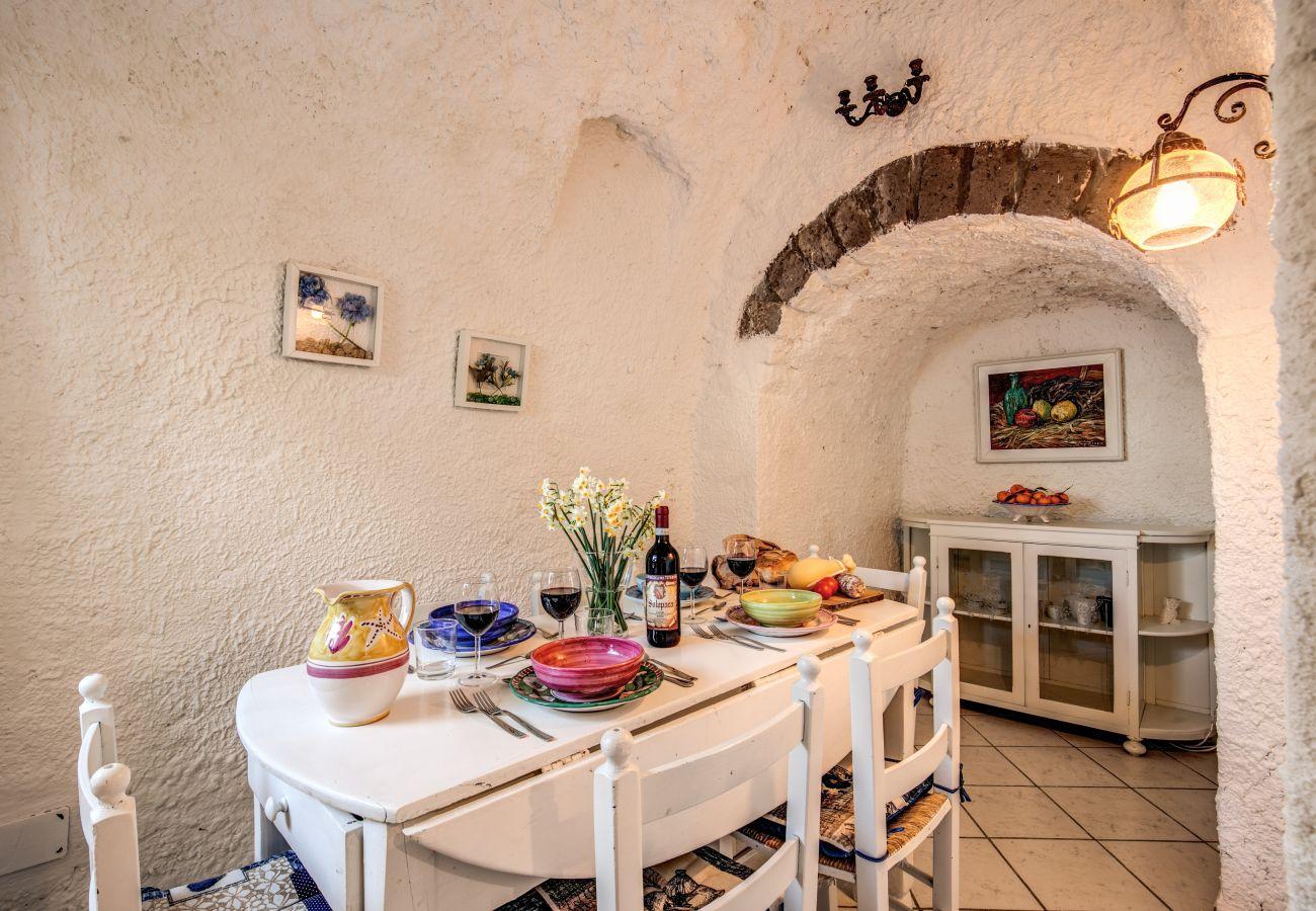 dining room villa rental the retreat of the sense, amalfi coast