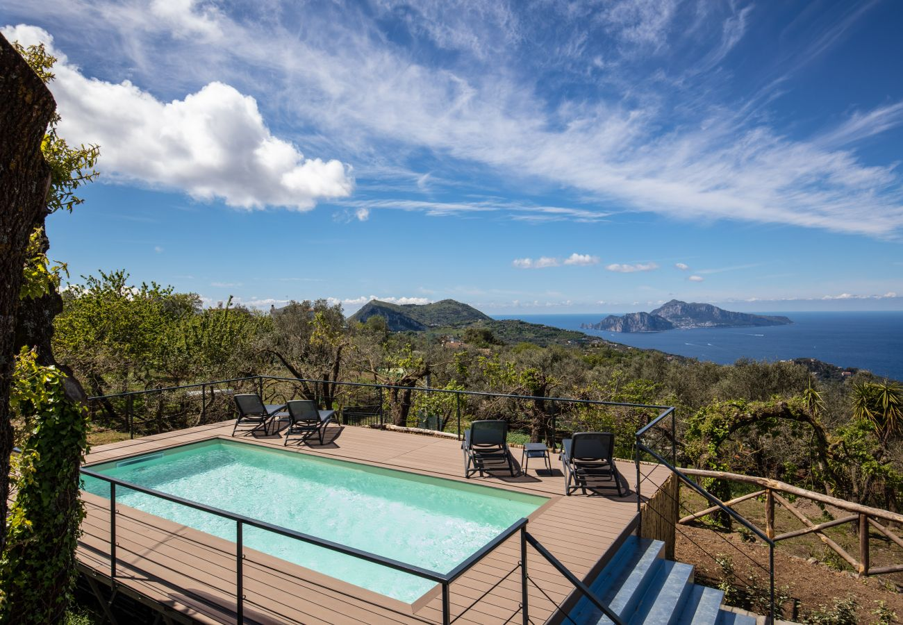 pool side, vacation villa amalfi coast, and views overlooking amalfi coast and capri island