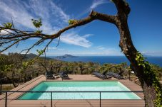pool side, with capri and sea views, sunny day