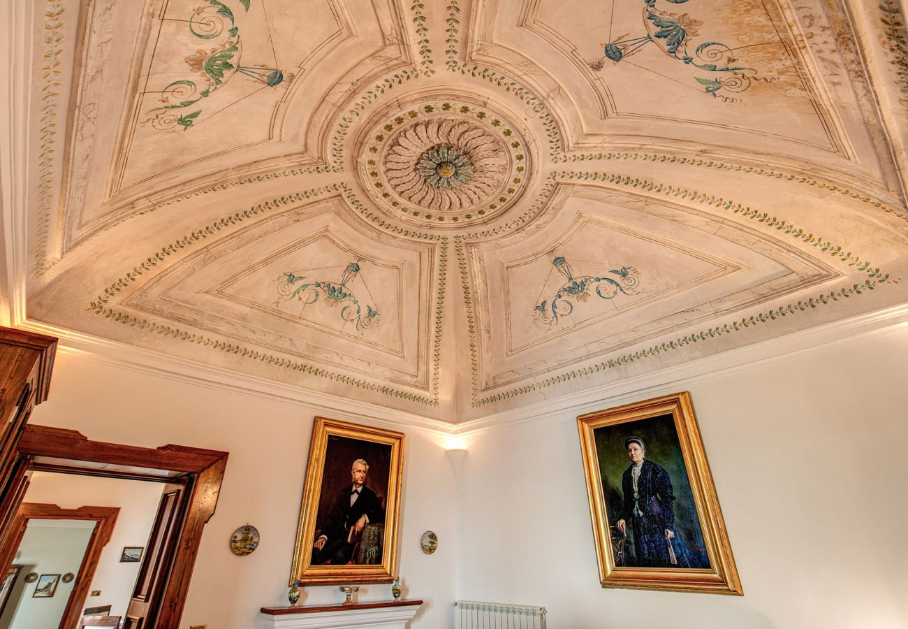 ceiling fresco holiday home positano, italy
