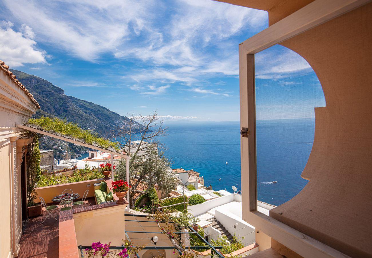 stunning views overlooking ravello and sea, casa marina positano
