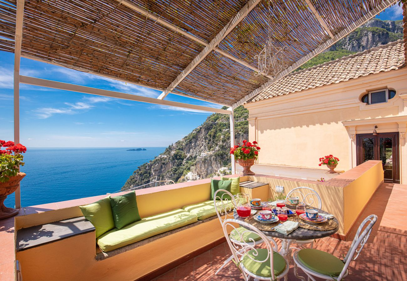 holiday home in positano with panoramic view overlooking sea and coast