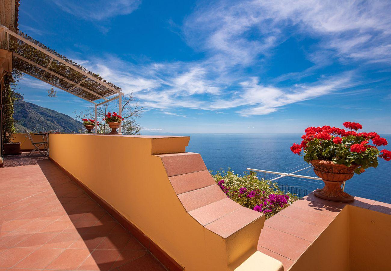 stunning terrace with sea view, casa marina positano