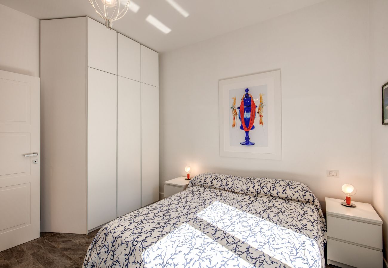 bright double bedroom with big wardrobe, casa sofia