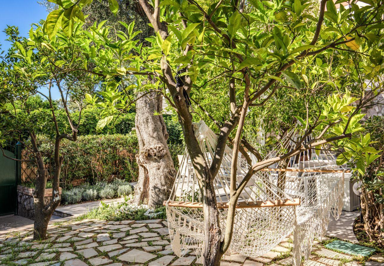 garden with hammock, casa sofia